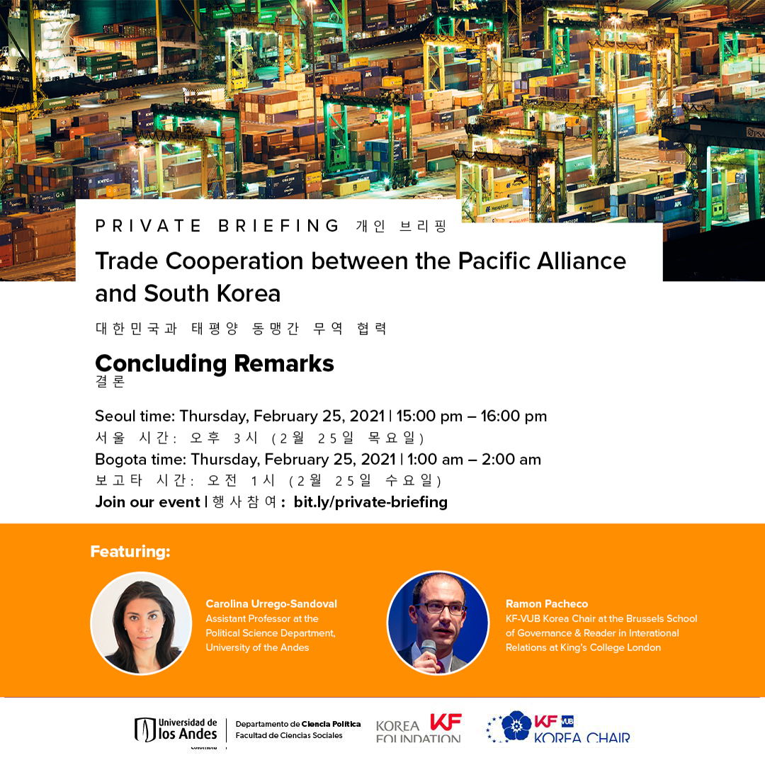Private Briefing | Trade Cooperation between the Pacific Alliance and South Korea: Concluding Remarks